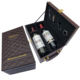 Holiday Gift PU Leather Double Bottle PU Leather Wine Box Gift
