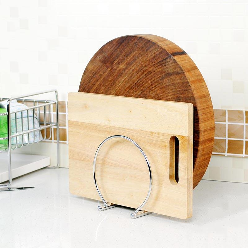 Good Quality Table-Stand Kitchen Storage Racks Organization Stainless Steel Chopping Board Rack Pan Lid Holder