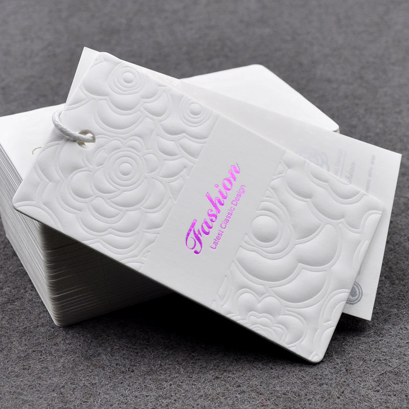 High-grade white custom male and female underwear clothes tags