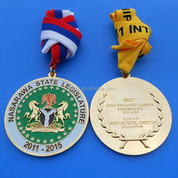 Custom Design Football Competition Sports Cheap Medals With Ribbon