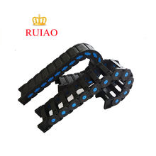 High quality various size nylon tray chain black plastic cable chain for CNC