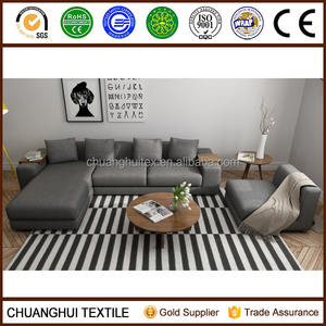 100% polyester cationic fabric sectional sofa