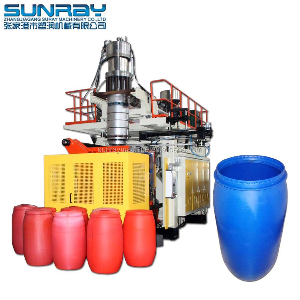200l Plastic Drum Extrusion Molding Blow Moulding Making Machine Drum Making Machine For 200 210 Liter 220l Blue Open Top Barrel