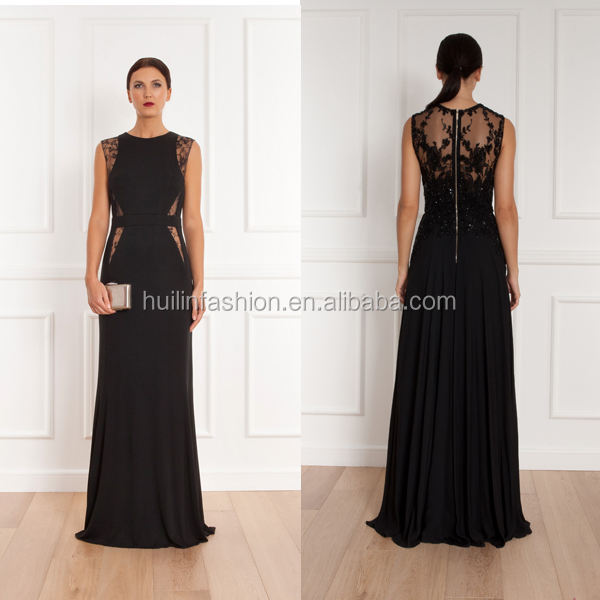Fashion sweaheart floor length beaded gown evening dress