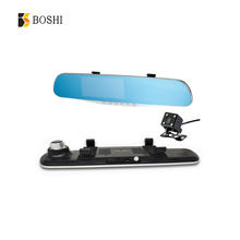 Dual lens DVR cars DVR recorder video register full HD 720P night vision dash cam rearview mirror with gps camera