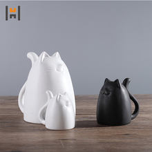 Home furnishing decoration ceramic cat hot sale item china supplier