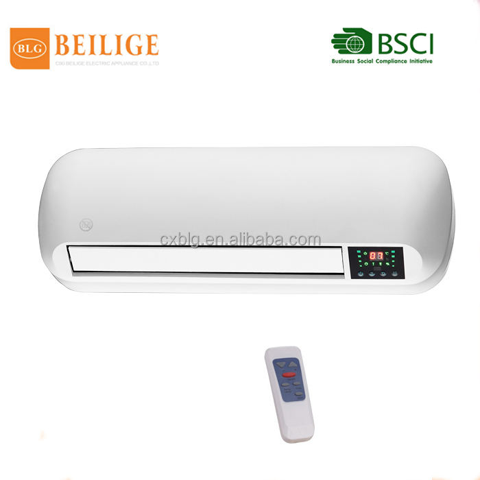fan manufacturer ptc ceramic heater element/ceramic wall mount heater with remote control light
