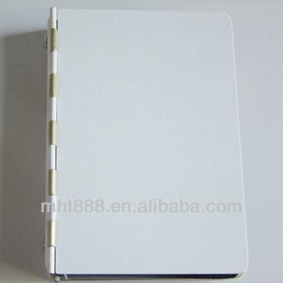 Sublimação blanks livros de endereços i07-1 metal sublimação <span class=keywords><strong>livro</strong></span> de nota