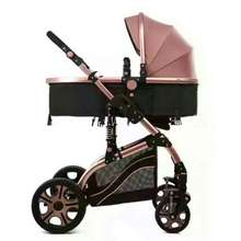2019 high quality foldable baby carriage / high landscape mother baby stroller 3 in 1 China / inflaming retarding baby pram