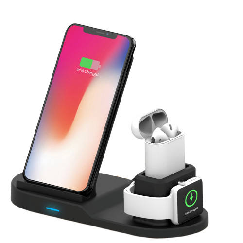 For Iphone Apple 10W Portable Phone Stand Fast Qi 3 In 1 Wireless Charger Pad