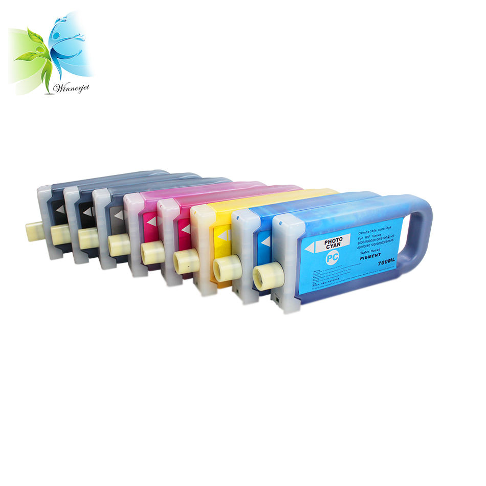 Hot Sale 8 Color 700ml Compatible ink cartridge for Canon pfi-701 compatible for Canon ipf 8000s 9000s 8010s 9010s Printer
