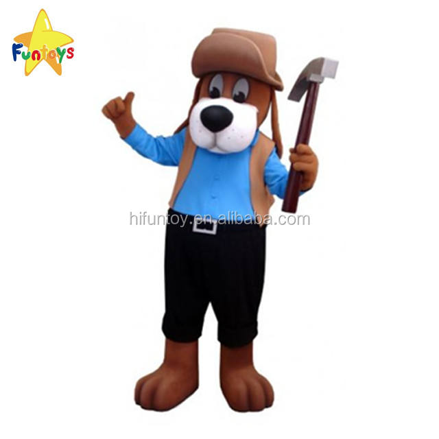 Funtoys CE Adult Worker Dog Mascot Costume For Farm