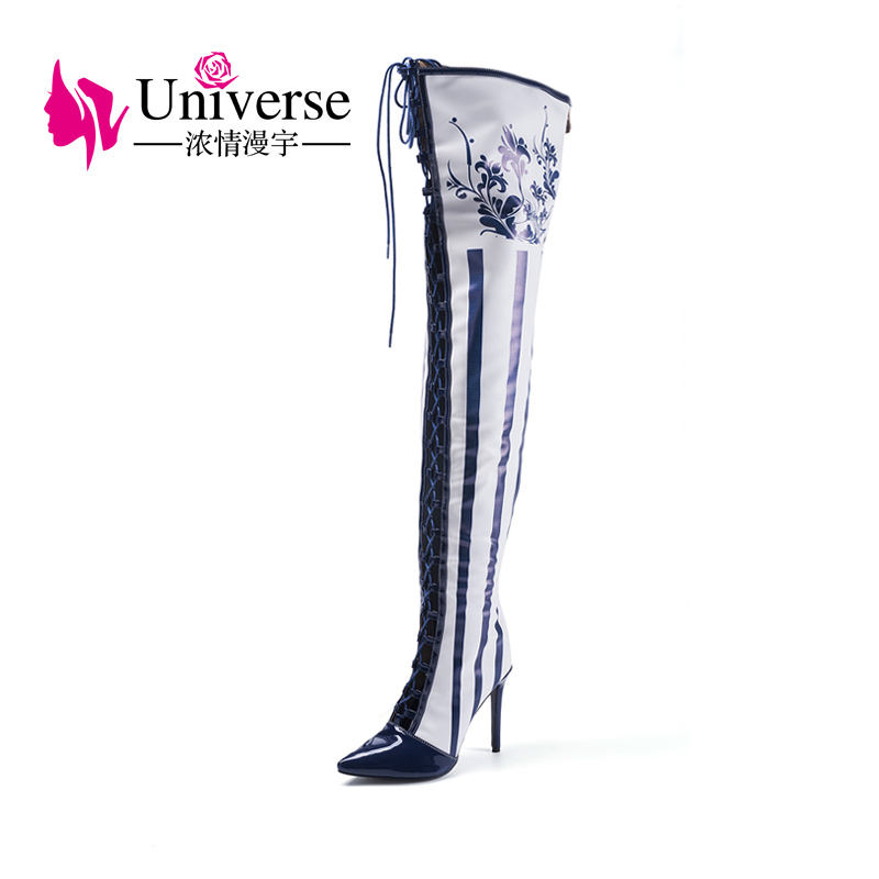 A011 PU Insole Material and Women Gender Popular High Heel Shoes Women Boots