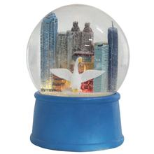 Wholesale big size Atlanta Custom led glitter resin russian swan and City building water snow globe for souvenir and prize