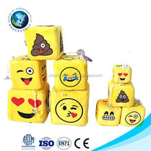 Wholesale Emoji Pillow Soft Plush Smiley Keychain Lovely Emoji Dice Pillow Creative Birthday Gift