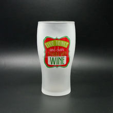 Custom frosted glass beer cup mug with printed logo