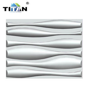 Panel de pared 3d de PVC con diseño de ondas blancas y Material decorativo para pared