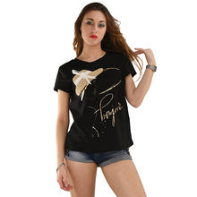 2020 Best Quality Custom Design Short Sleeve Printed Floral Promotional Women T-shirt
