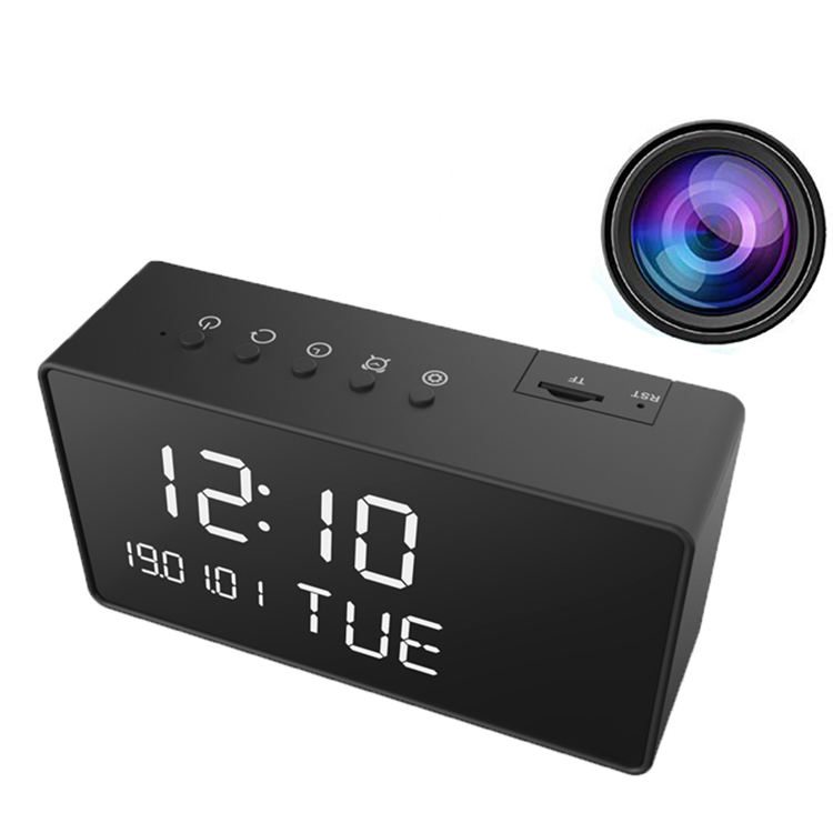 Howell Home Office Use CCTV Invisible Night Vision Wireless WIFI Digital Clock Spy Camera P2P Connection Clock Hidden Camera
