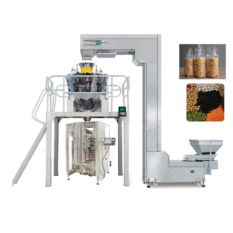 Multi head weighing soya peas bean packing machine Mung Beans lentil beans weighing and Packing Machine