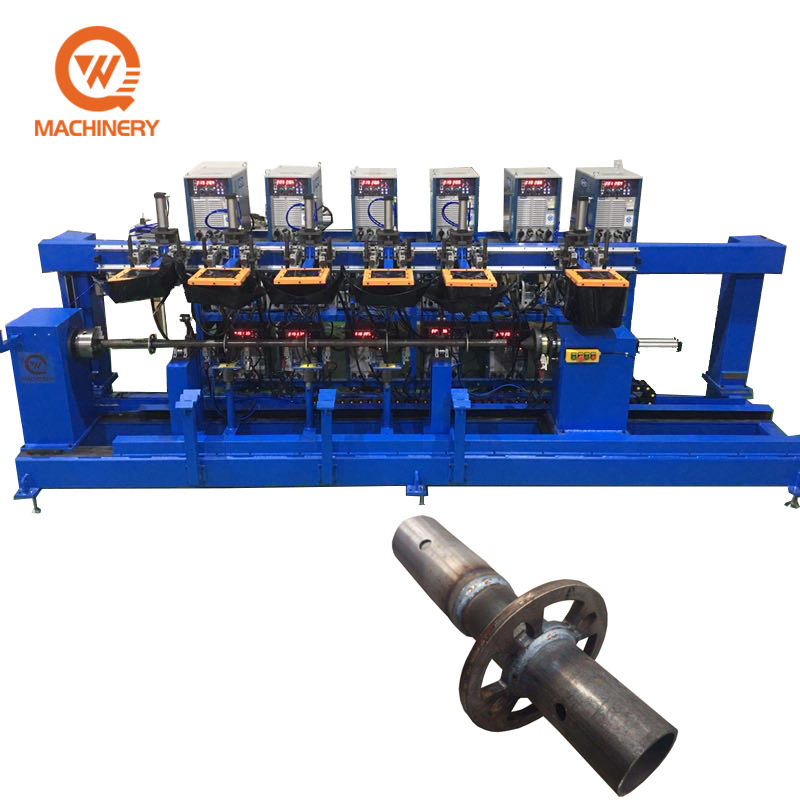 Omnibearing ringlock scaffold ledger automatic welding machine