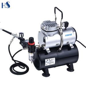 Airbrush Compressor AF18-2/Diaphragm Compressor 4/Bar Auto Shut-Down Pressure Gauge