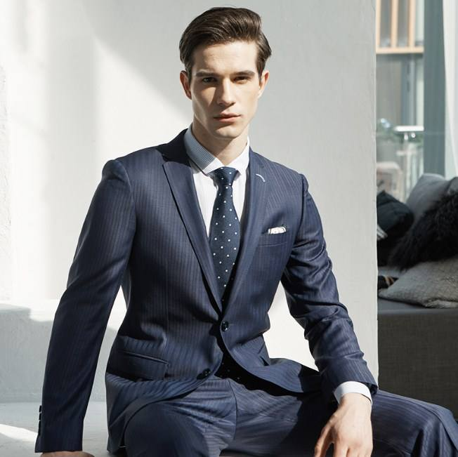 High Quality 70%wool navy blue color for office uniform pant coat design wedding suits for men italian
