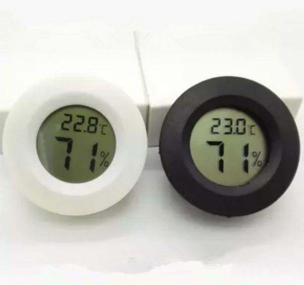 Mini Digital LCD Humidity Hygrometer Thermometer Temperature Round NEW