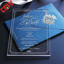 Acrylic Wedding Invitation Card,Custom Acrylic Wedding Invitation Card Printing