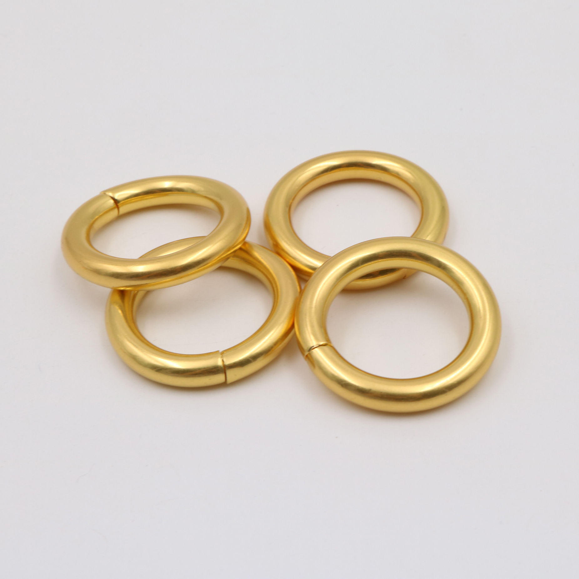 Custom Metal Zinc Alloy Golden Gold O-ring o ring Bag Hardware Handbag Accessory for handbag handle