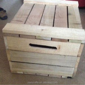 Wooden box wine crate high quality wooden storage crate box