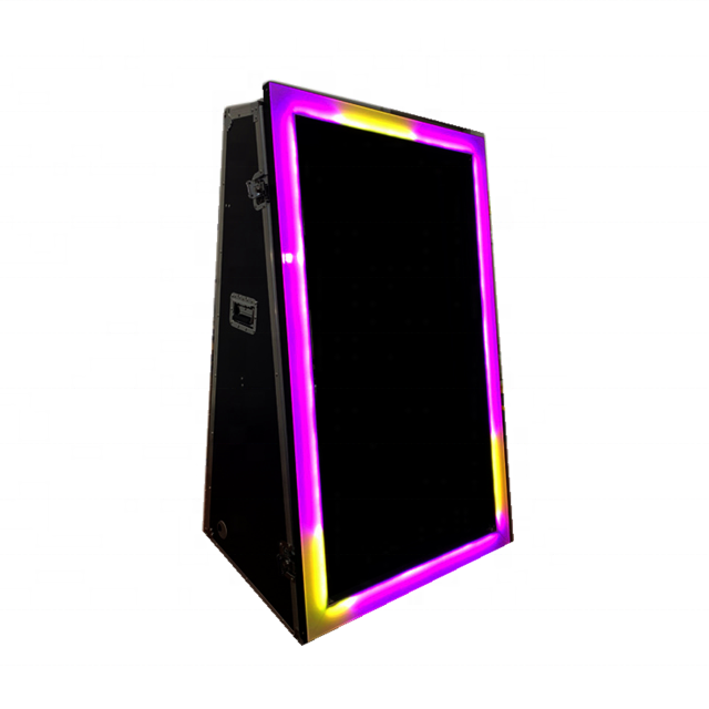 Magic Mirror Photo Booth LED Frame, Gold Frame