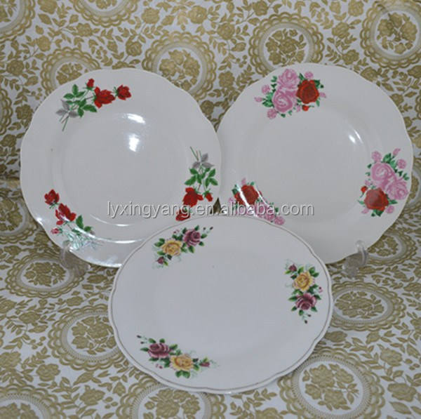 cheap white decal dinner plates to Africa,ceramic soup plate,Yiwu plate agent