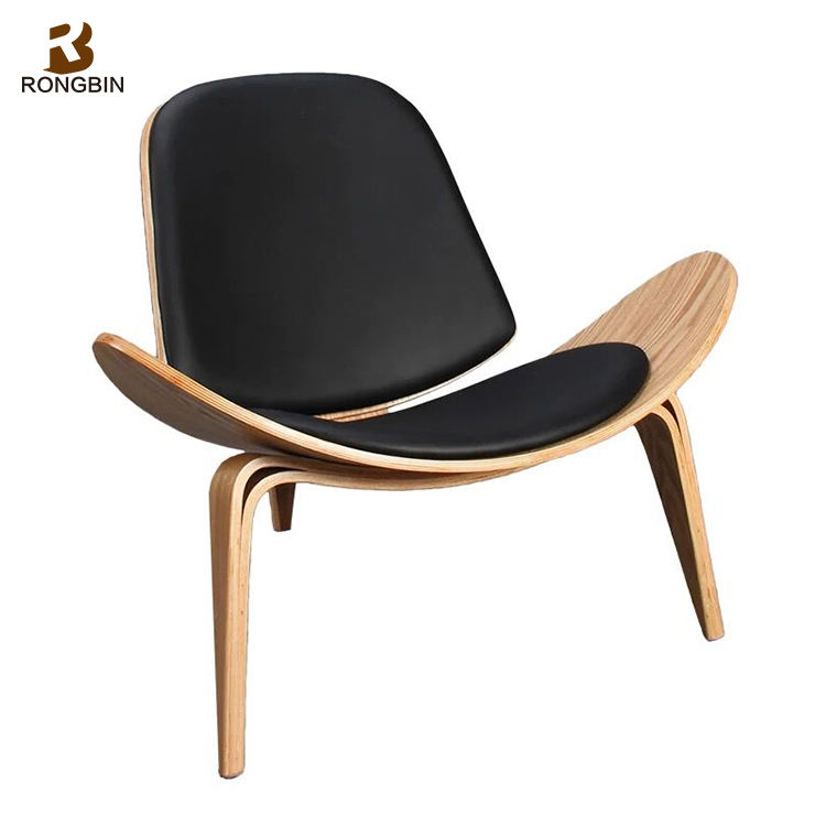 Replica Aircraft Triangle Danish Shell Chair Furniture three legged bentwood Simple Living Room Leisure Shell Chair