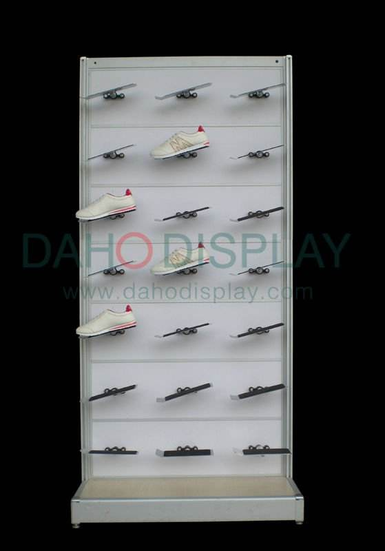 display shelf for shoe rack in supermarket