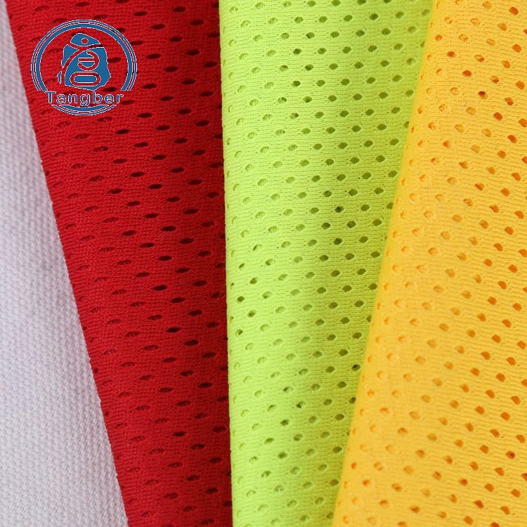 High quality fluorescence color warp 100% polyester breathable mesh fabric sports shoe lining