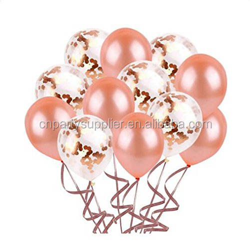 Hot Selling 18 Inch Confetti Ballon Party Decoraties Baby Shower Verjaardag Rose Gold Confetti Ballonnen