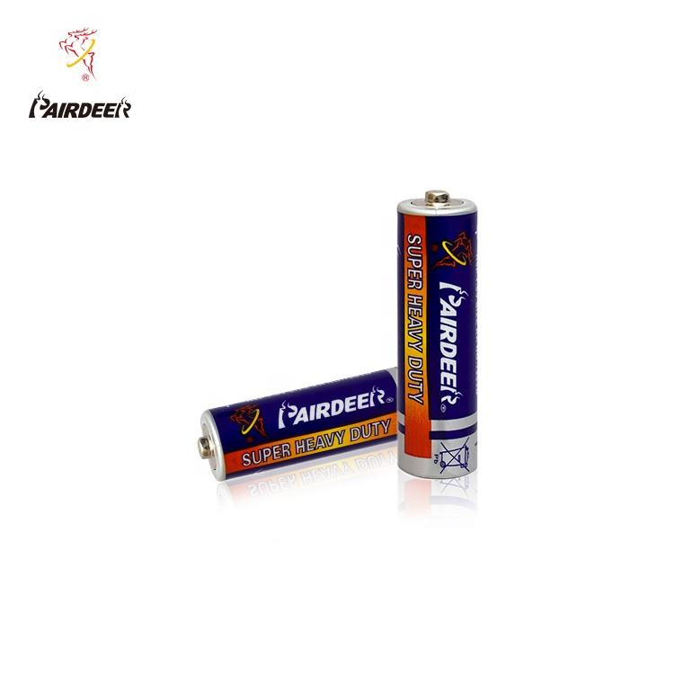 Zinc Carbon [ Um3 R6p Aa Battery ] Aa R6p Aa Battery OEM Pairdeer 700mAh Super Um3 1.5v Um3 Heavy Duty Dry R6p Aa Battery