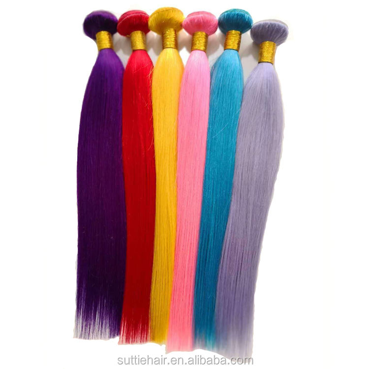 wholesale color human hair ombre hair bundles ,brazilian pink hair extensions