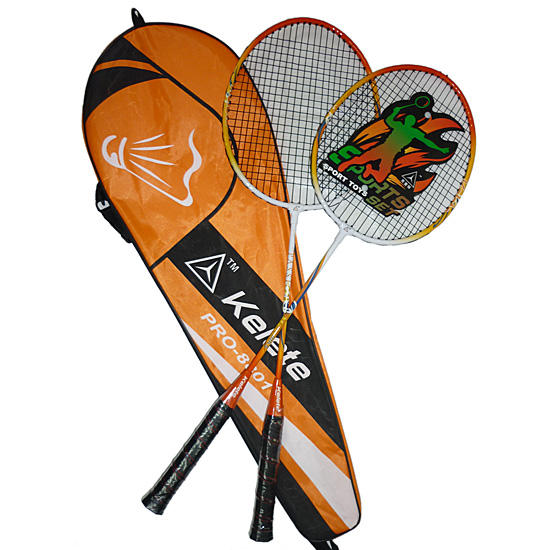 Make your own design T joint steel frame badminton set racket racquet