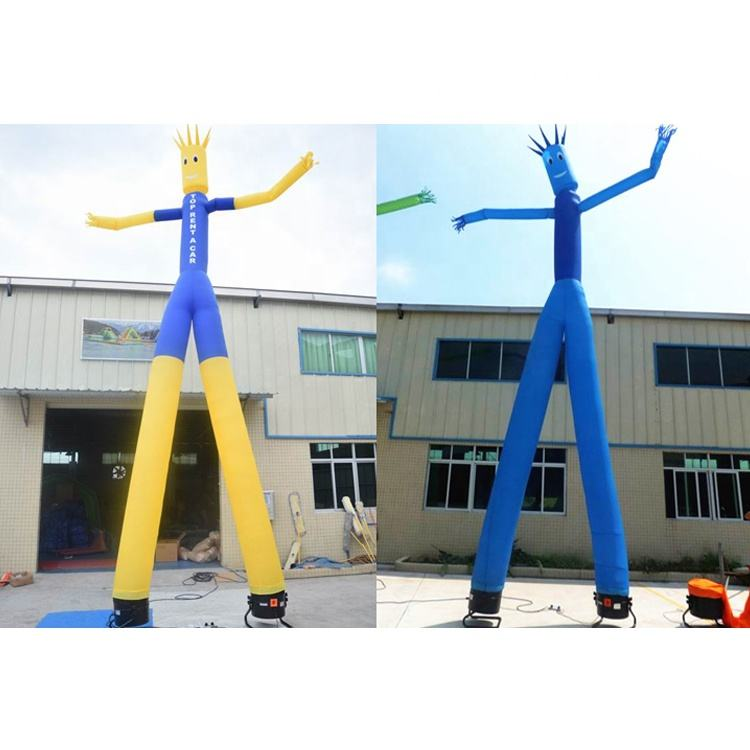 Durable Nyloyn Inflatable Sky Dancer / Inflatable Dancing Man For Advertising