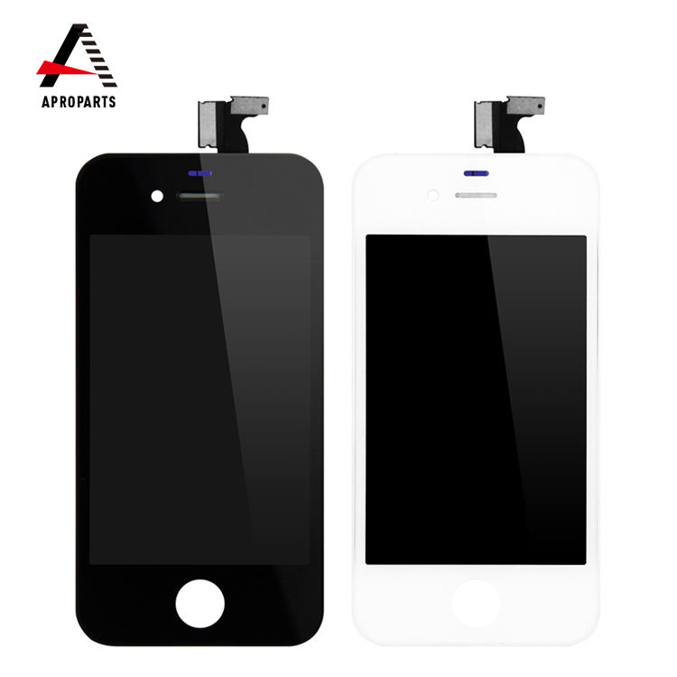Wholesale Price Mobile Phone Spare Parts LCD Display For iPhone 4 / 4s Display Touch Screen digitizer Assembly Black & White