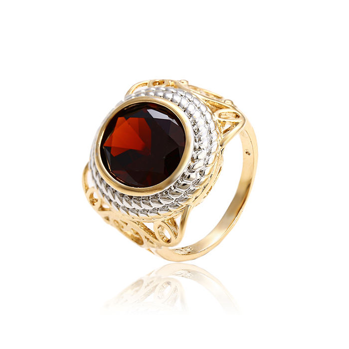 12967 Fashion New Best Selling Red Synthetic CZ three color Women's Alloy Luxury Finger Ring