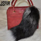 Trend Fashion Fox Tail Fur Accessory Keyring Bag Pendant Fur Key Chain