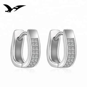 Wholesale fashion jewelry U shaped 925 sterling silver earrings