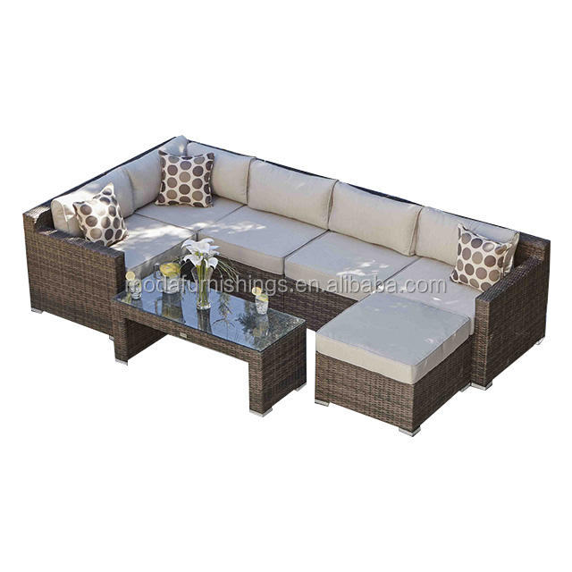 New Style Alu Outdoor Wicker Garden Rattan Patio Sunlounger Furniture Sofa Set