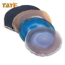 Factory Supply Natural Polished Agate Coaster for Home Decoration