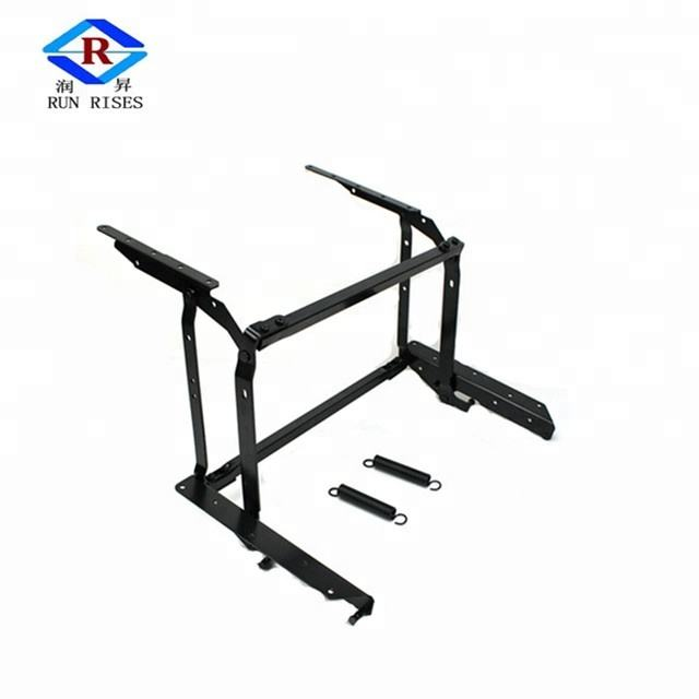 2X Lift Up Top Coffee Table Hardware Pneumatic Hinge Lifting Frame Mechanism USA