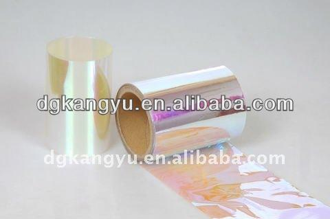 rainbow spangle film/Amarica blue bottom glitter film