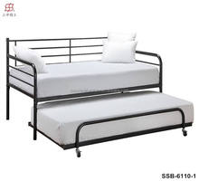 Cheap Modern Simple White Metal Daybed with Trundle Bed